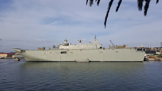 tec container supplies test hooks to hmas canberra